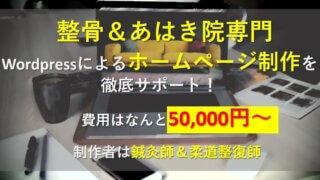 【費用はなんと5万円?】整骨&あはき院専門ホームページ制作依頼用LP